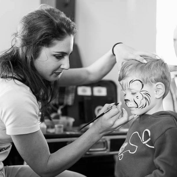 Lion Face Painter London Bazinga Parties