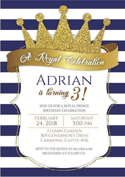 Prince Party Invite Digital Download Bazinga Parties